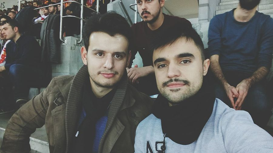 Watching basketball match with my bro People Crowd Outdoors Sport Capture The Moment Basketball Game Friendship Turkey Today's Hot Look Meeting Friends
