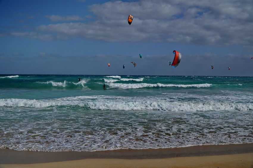 ks2 Adventure Beach Cloud - Sky Corralejo, Fuerteventura Day Extreme Sports Horizon Over Water Kitesurfing Leisure Activity Lifestyles Nature Outdoors Parachute Paragliding Real People Sand Scenics Sea Shore Sky Sport Tranquility Vacations Water Wave