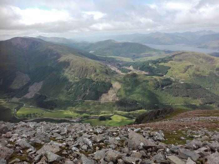 Ben Nevis Scotland Halfway Up Valley