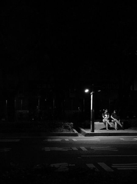 Night Illuminated Street Passerby Bide Days  Friends Light Shadow Black Blackandwhite the friend who always keeps you company Live For The Story EyeEmNewHere The Street Photographer The Street Photographer Live For The Story you are the light that illuminates my life. Live For The Story Place Of Heart