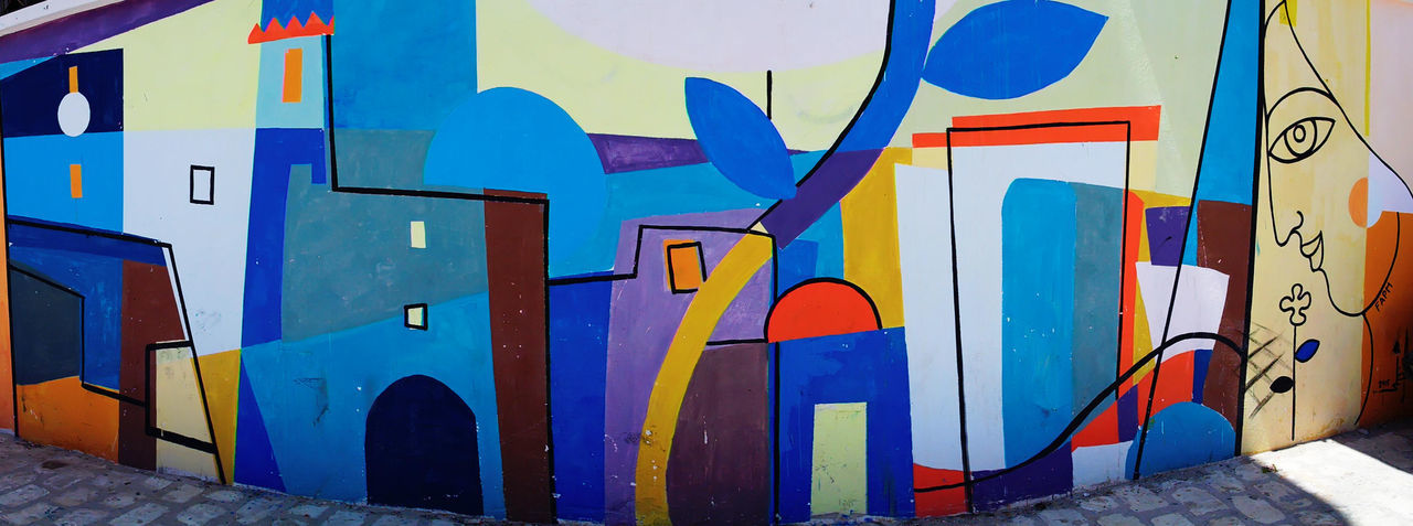 Colour Of Life Clorful Streetphotography Street Art Panorama Traveling Mahdia Tunisia Painting NX2000