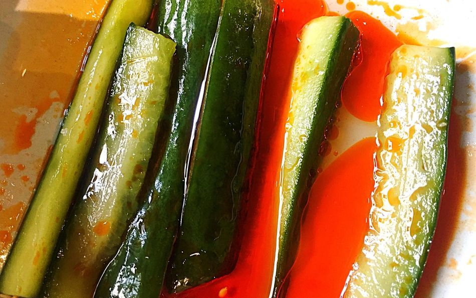 ShareTheMeal Cucumbers Chili Oil Asian Style