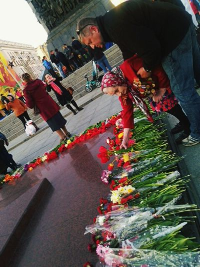 Snapshots Of Life Hallo World Taking Photos 70 Years Of Our Victory! Victory Day May 9 Grandmother Veteran Medals Touching Moments Memories History Eternal Flame Red Flowers Belarus Minsk
