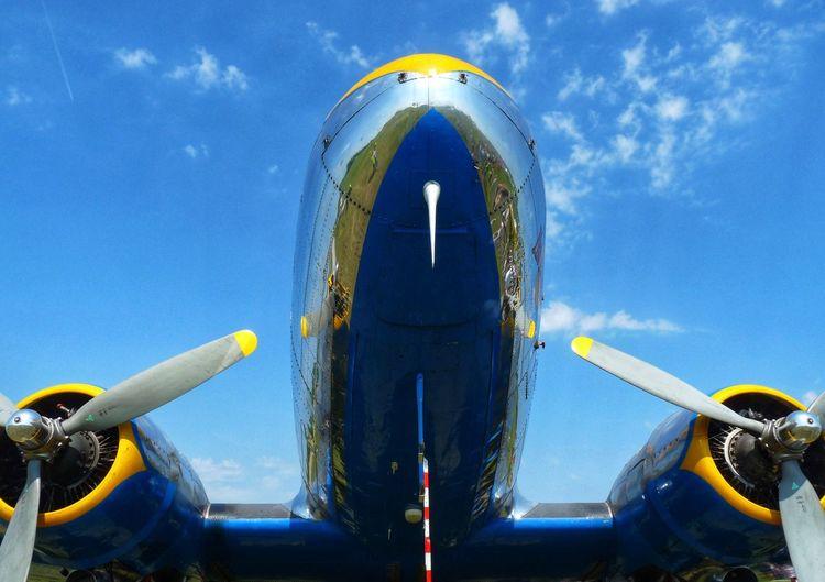 Transportation Mode Of Transportation Sky Nature Air Vehicle Airplane Blue Cloud - Sky Plane Travel