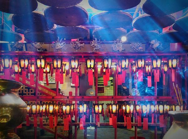 Temple Chinese Lanterns Chinese Temple Creative Light And Shadow Light Rays Light And Shadow Bright Light Hong Kong Man Mo Temple