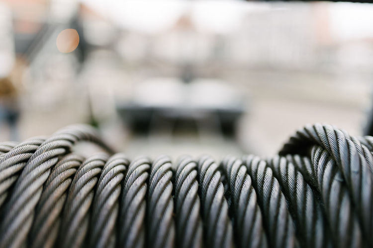 Close-up of steel cable