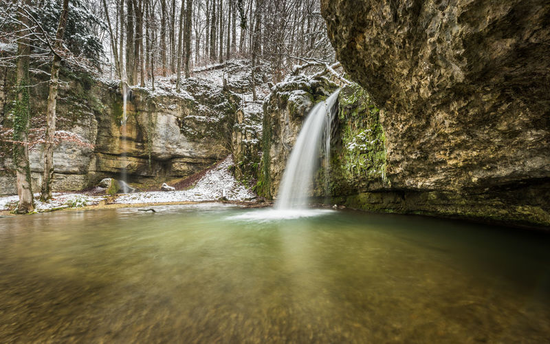 Winter waterfall Waterfall Winter Cold Temperature Cold Snow Long Exposure Silky Rock Nature Forest Trees Water Scenics - Nature Blurred Motion Flowing Water Power In Nature Outdoors Falling Water Beauty In Nature