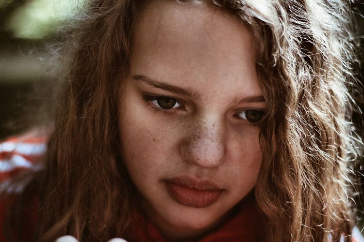 Beauty Close-up Focus On Foreground Headshot Human Face Leisure Activity Lifestyles Looking At Camera Messy Person Portrait Young Adult Young Women The Portraitist - 2017 EyeEm Awards