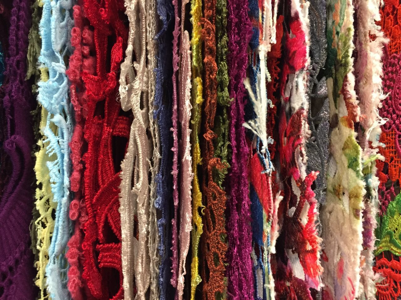 full frame, backgrounds, multi colored, no people, variation, textured, choice, textile, close-up, wool, day, indoors