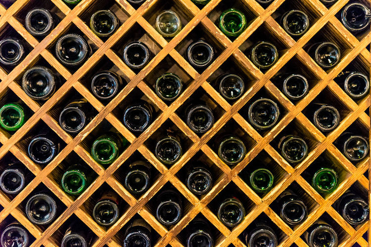 Backgrounds Cellar Day Food And Drink Full Frame In A Row Large Group Of Objects No People Stack Wine Wine Bottle Wine Cellar Wine Rack Winery