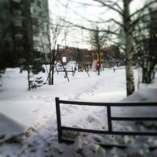 Опять Зима( Снова снег зима Давайдосвидания ВеснаПридиСкорей.