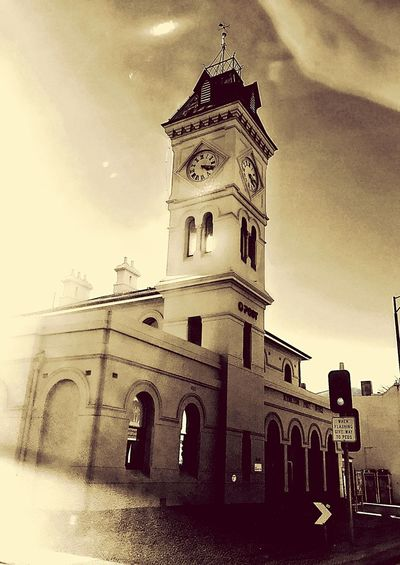 Kyneton clock tower Historical Towns Vintage Architechure Town Centre Photography Historic Building Victorian Towns Kyneton Post Office Tower Architecture Building Exterior Sky Building History Clock Low Angle View Tower