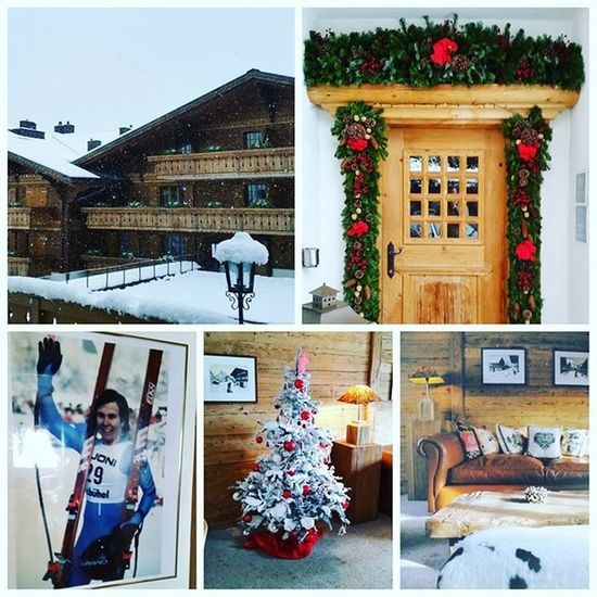 Slowly Snowing in during lunch, just priceless 😊 Gstaad BrunoKernen