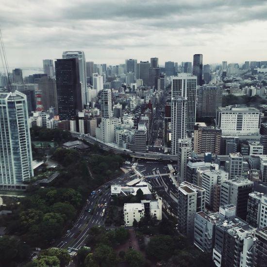 東京タワーからの景色-The view from the Tokyo Tower- Tokyo Tokyo Tower Tokyo,Japan 東京タワー Building Exterior Architecture Built Structure Building Cityscape Sky Cloud - Sky High Angle View No People Tower Tall - High