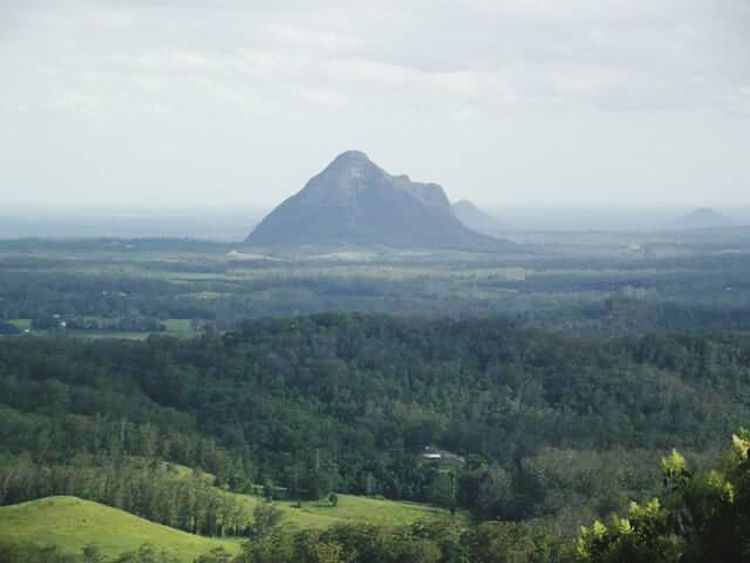 Glasshouse Mountains Mountain Scenics Outdoors Nature No People Glasshouse Mountains Beerwah (Australia) Beauty In Nature