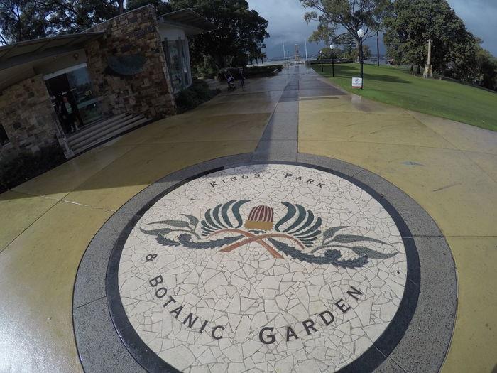 King's Park Botanical Gardens Outdoor King's Park, Perth, Australia Vegetation WA Australia Travel Tourist Floor Plants Floor Tiles Mosaic Mosaic Art Arrival Shape Day Clouds Rain Storm Gardens