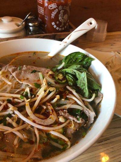 Pho Ba Tai Pho Food And Drink Food Indoors  Freshness Ready-to-eat Still Life Table Healthy Eating Serving Size Bowl Spoon No People Soup