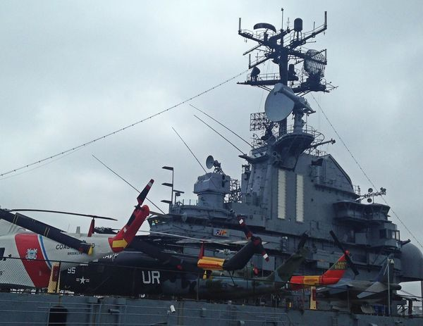 Intrepid aircraft carrier ~ USS Intrepid Museum Nautical Vessel Military Airplane Transportation No People Air Vehicle Outdoors Fighter Plane Intrepid Museum Technology Transportation Military Life New York NYC