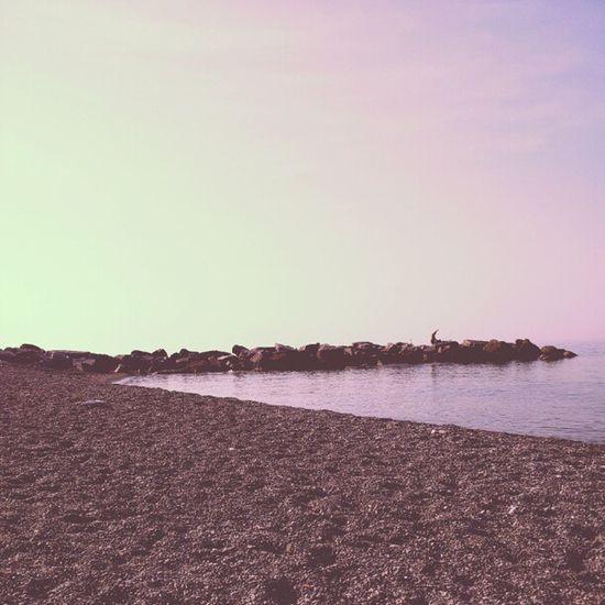 Celle ligure beach.Beach Celleligure 8am June italy sea desert