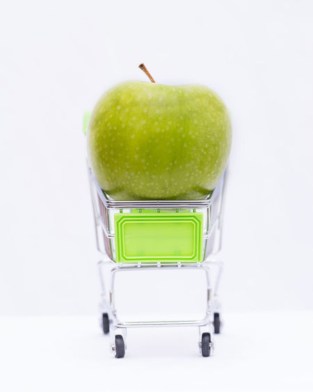 Apple Apple - Fruit Close-up Copy Space Cut Out Food Food And Drink Freshness Fruit Granny Smith Apple Green Color Healthcare And Medicine Healthy Eating Indoors  No People Single Object Still Life Studio Shot Wellbeing White Background