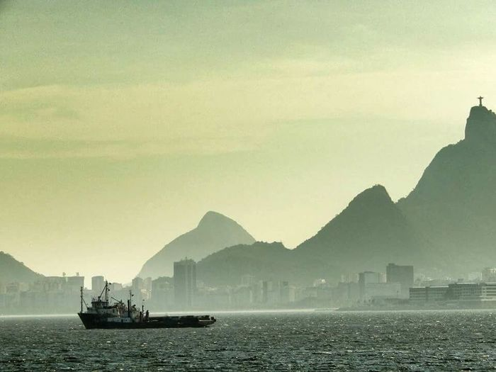 O Rio de Janeiro continua... Nautical Vessel Transportation Freight Transportation Outdoors Water Sea Silhouette Urban Skyline City Mountain Nature Day Nature Swimming Photography Summer Beauty Tranquility Vacations City Riodejanerio RJ Brazil Niterói