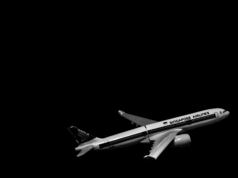 Black Background No People Close-up Flight Landing Manipulated Singapore Airlines Budaksekolah Form2 Barubelajarlah Student Malaysia