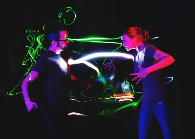 Creative Light And Shadow light battle Laser heroes Carl Doutre Photography