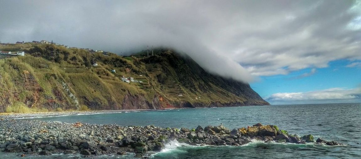 Clouds And Sky Cost Ocean Azores, S. Miguel Povoação Nature This Week On Eyeem