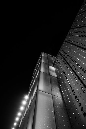 Light tower - modern structure -architecture - Bankgok Bangkok Tower Illuminated Architecture Night Built Structure Low Angle View No People Lighting Equipment City Pattern Railing Transportation The Way Forward Modern Direction Staircase Steps And Staircases Indoors  Diminishing Perspective Dark Ceiling Blackandwhite