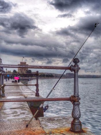 time to go fishing Taking Photos Enjoying Life Salonika Lefkos Pirgos Thessaloniki Greece Thessaloniki Port  Fishing Fishing Time HDR Landscape Photography