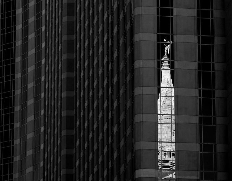 Architectural Column Architecture Architecture Architecture_collection Black Blackandwhite Building Building Exterior Built Structure Contrast Dark Day Low Angle View Modern No People Outdoors Reflection Structure Black And White Friday The Graphic City