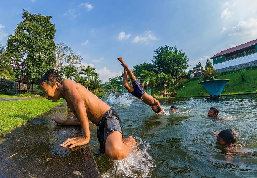In-N-Out Barefoot Jump The Decisive Moment Joy Clouds And Sky Faces Of Summer Lombok INDONESIA Capture The Moment Swimming Pool Adventure Club