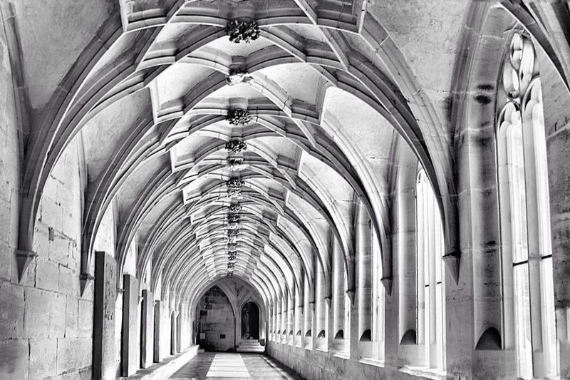 Back into the Future Architecture Arch Built Structure Ceiling Indoors  Architectural Column Travel Destinations Religion No People Place Of Worship Abbey Day Black And White Monochrome S/w-Fotografie B&w Photography Arts Culture And Entertainment Architecture S/w From My Point Of View Maulbronn