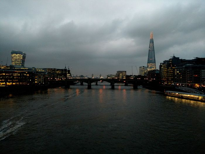 London Skyline taken on a motorola x. City Architecture Urban Skyline Built Structure Tower Travel Destinations Building Exterior Cityscape Skyscraper Water Outdoors Adapted To The City England🇬🇧 Travel Harbor No People Sky Cloud - Sky Night Motorolaphotography