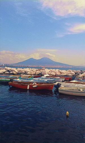 Napoli Vulcan Vesuvio Photography Tradition colour of life Love Italy EyeEmNewHere Sailing Ship Water Nautical Vessel City Sea Harbor Sunset Beach Blue Sailboat Marina