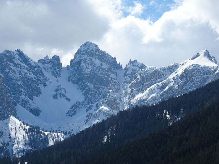 Mountain Snow Cold Temperature Winter Sky Beauty In Nature Scenics - Nature Cloud - Sky Environment Tranquil Scene Snowcapped Mountain Landscape Mountain Range Tranquility Nature No People Non-urban Scene Day Mountain Peak Outdoors Range Formation