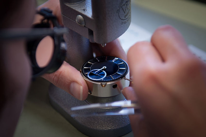 Switzerland, the watch, hour mile, watch Assembly, watch industry Close-up Day Equipment Holding Hour Mile Human Body Part Human Hand Indoors  Machinery Manufacturing Equipment One Person People Real People Selective Focus Switzerland The Watch Time Watch Assembly Watch Industry