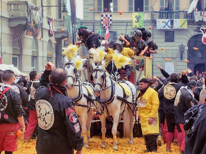 Carnival Crowds And Details Ivrea Carnivale Di Ivrea Orange Color Oranges Battle Of The Oranges Italy Italia Traditional Culture Carnival Crowds And Details