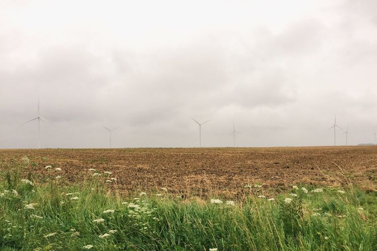 France Nature Windmill Landscape Minimalism Field Nature_collection Nature Photography