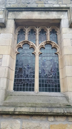 Building Exterior Architecture Window Built Structure Low Angle View Day Outdoors No People Sky Stained Glass Window Religious Architecture Religious  Art