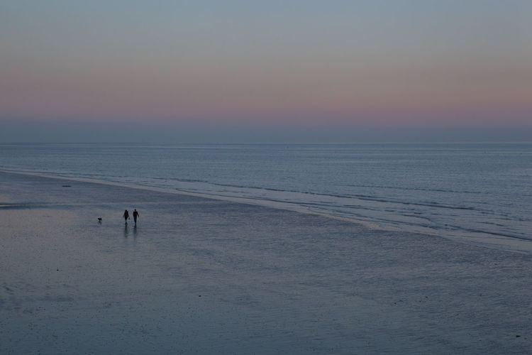 Dog walkers at dusk on Bognor beach Beach Beach Photography Beachphotography Beauty In Nature Bognor Regis Calm Coastline Copy Space Couple Dog Dog Walking Dusk England Horizon Over Water Idyllic Seascape Shore Solitude Summer Sunset Tourism Tranquil Scene Vacations Walking Water