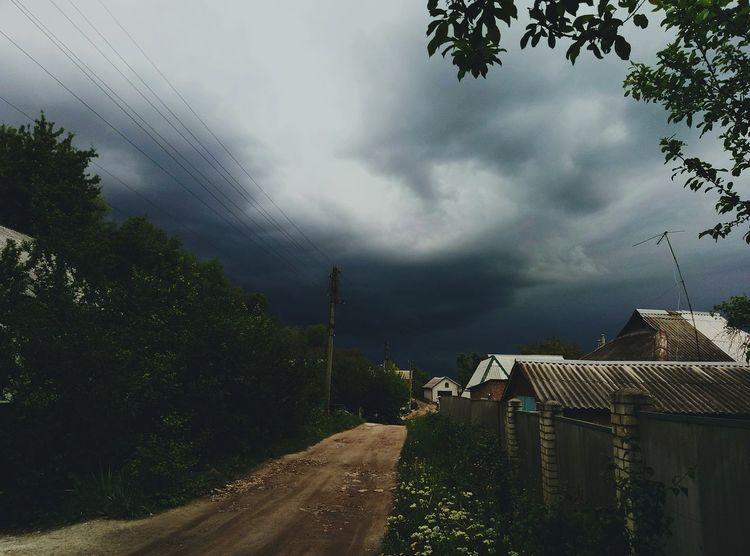 Tree Storm Cloud Cloud - Sky Storm Outdoors No People Thunderstorm Day Sky Nature