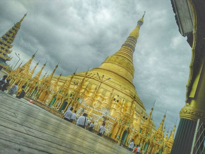 The Golden Land~~~~ Pagoda Architecture Ancient Cloud - Sky Place Of Worship The Golden Land EyeEm Vision First Eyeem Photo EyeEmNewHere Live Your Dream .. Share Your Passion .. Peace Of Mind The Week Of Eyeem Yangon Myanmar Yangon, Myanmar Eyem Vision Myanmarculture Let's Go Together Let's Go. Together.