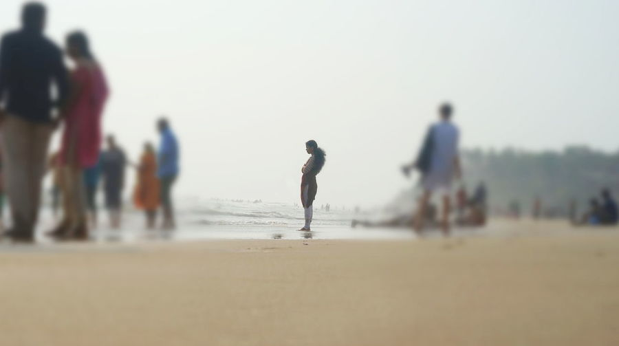 Beach Day Nature People Real People Sand Sea Selective Focus Seriously Fake Blur Water Women