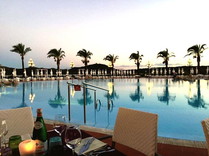 As the sun went to sleep, a shadow in the sky Sardegna 2015 Swimming Pool At Night Amazing View Daydreaming