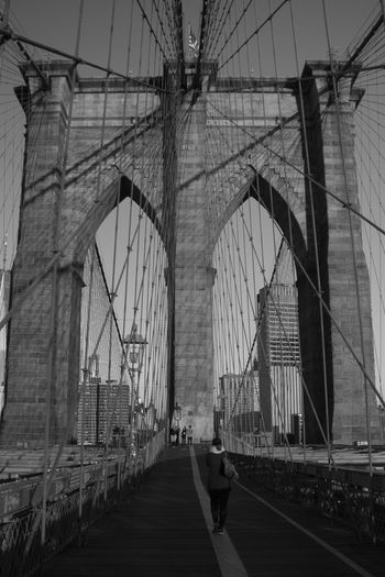 Brooklyn Bridge Built Structure Bridge Architecture Connection Bridge - Man Made Structure Transportation Engineering Suspension Bridge Travel Destinations Tourism Sky Cable Travel City Arch Steel Cable Road Building Exterior The Way Forward Outdoors