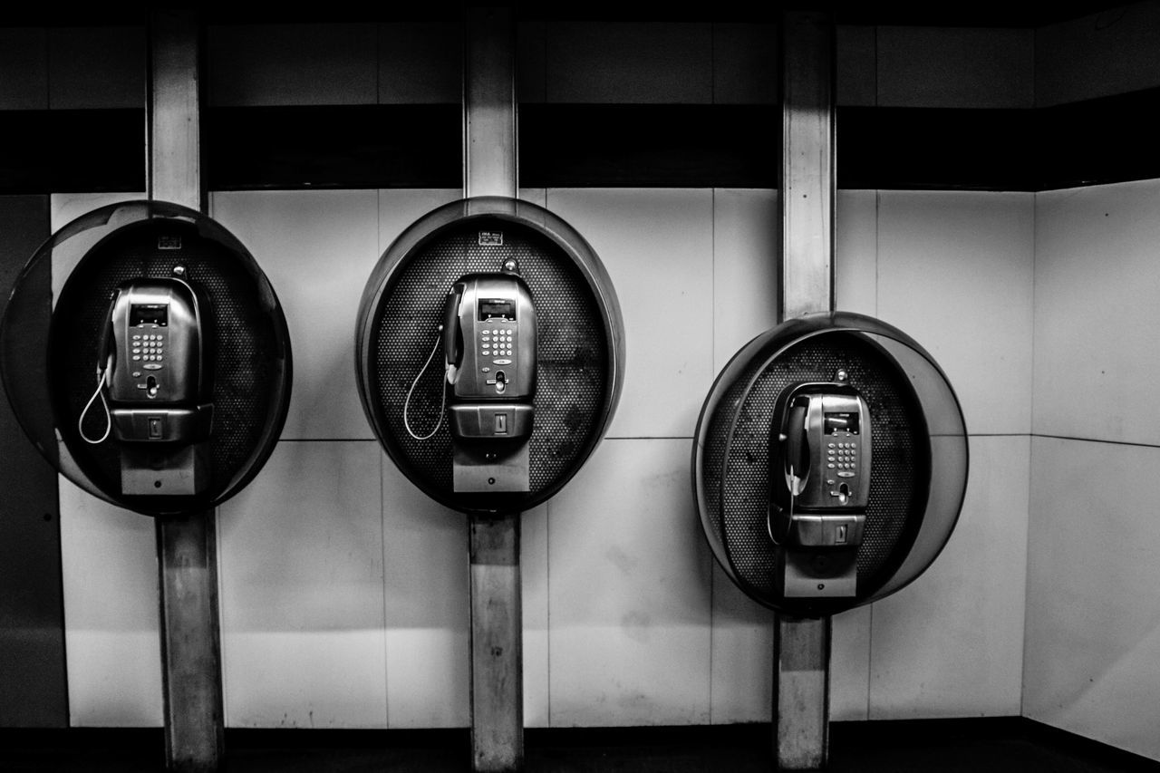 connection, indoors, communication, telephone, close-up, no people, technology, day, pay phone