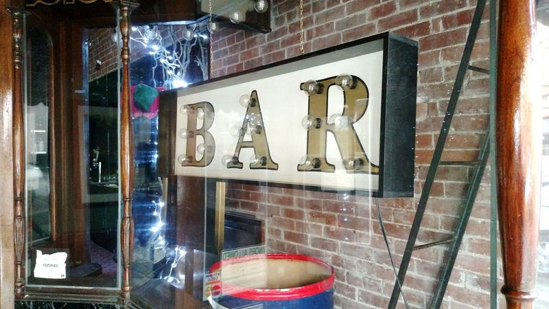 Bar Sign Hanging Out Taking Photos Hello World Enjoying Life Downtown Salem, Oregon Outdoor Photography Street Photography Vintage Building Vintage Sign