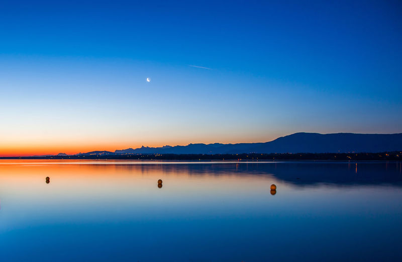 Colors of dawn Dawn Empty Geneva Lake Morning Nature Sky Space Sunrise Switzerland Water