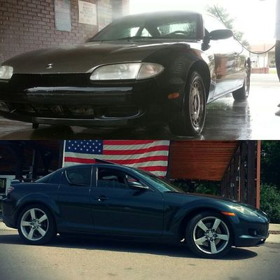 TransformationTuesday ♡ Went from Ole Faithful, to NEW faithful ♡ Mx6 Rx8 Mazda ZoomZoom 2Fast4U MazdaLife RotorHead